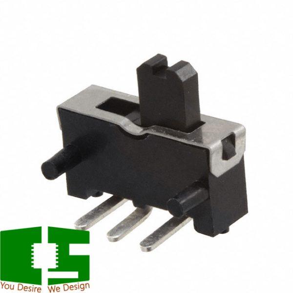 SPDT 300mA 10VDC 10V Right Angle Slide Toggle Switch