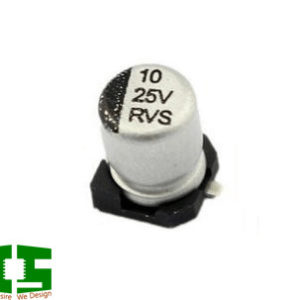 10uF 20% 25V 4x5.4mm SMD Aluminum Electrolytic Capacitor