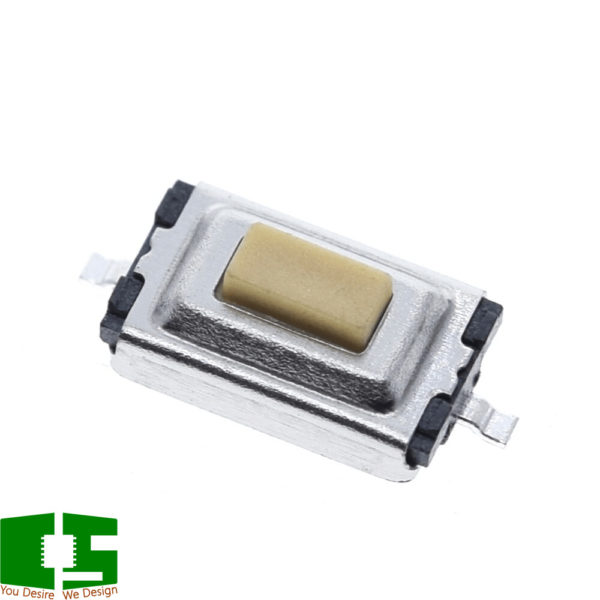 SPST 50mA @ 12VDC Top Actuated Rectangular SMD Button
