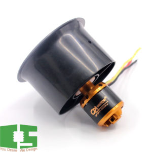 3500KV Brushless Motor with 55mm 6 Paddle EDF Ducted Fan