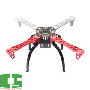 F450 Quadcopter Multi Copter PCB Frame with black Landing Gear