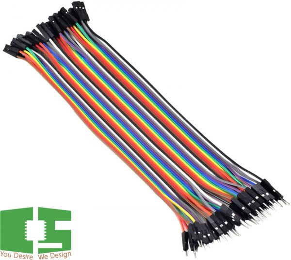 Male to Female 20cm Dupont 40 Pin Jumper Wire Connector