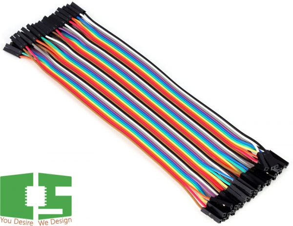 Female to Female 20cm Dupont 40 Pin Jumper Wire Connector