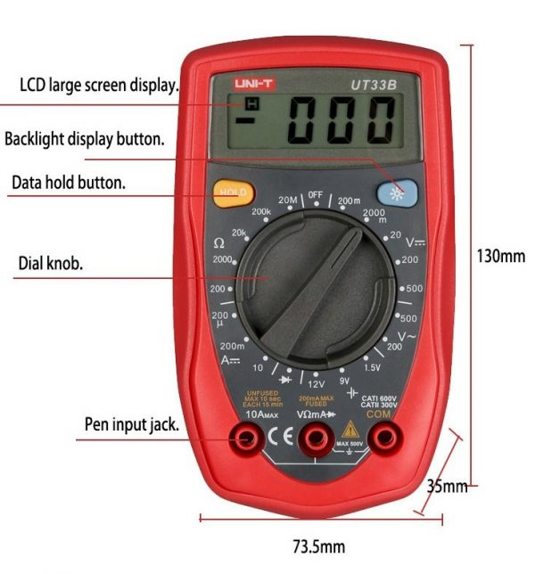 UNI-T Digital Multimeter Model UT33B
