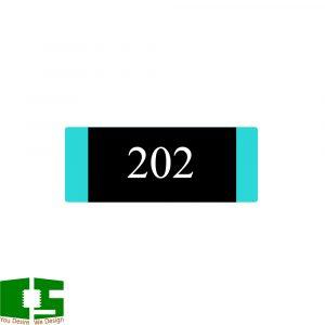 2K 0805 5% SMD Resistor (20pcs) Chipspace