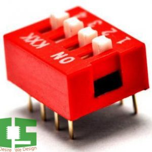 4-Pin Flat Dial switch 2.54mm Chipspace