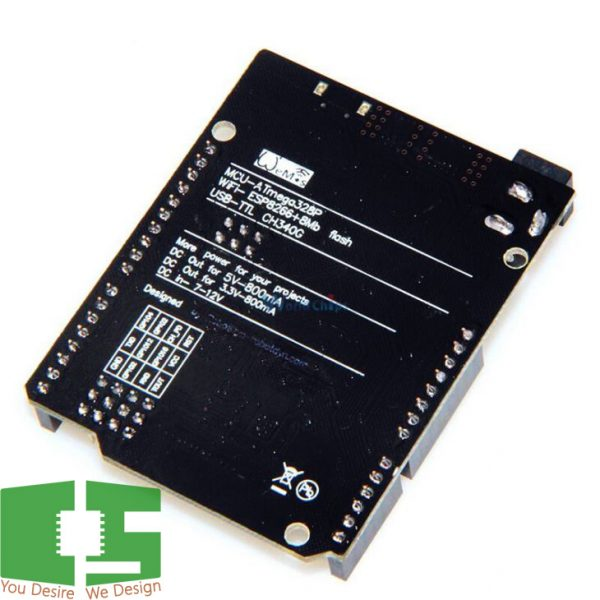 Arduino Uno R3 ATmega328P ESP8266 WiFi Module with USB-TTL CH340G Chipspace