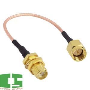 RG316 Coax Cable SMA Male Plug to SMA Female Jack RF Coaxial Connector Jumper Pigtail Extender Cable 30cm Chipspace