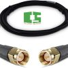Amphenol Black RG174 SMA Coaxial Cable, 50 Ohm, SMA Male to SMA Male, 1' Chipspace