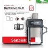 SanDisk 32GB Ultra Dual Drive M3.0 for Android Devices and Computers - MicroUSB, USB 3.0 Chipspace