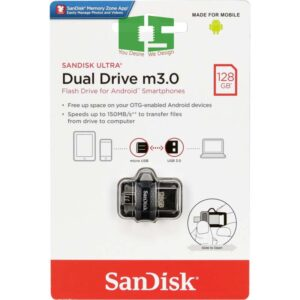 SanDisk 128GB Ultra Dual Drive MicroUSB M3.0 for Android Devices & Computers Chipspace